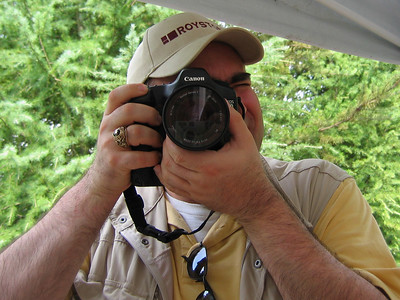 My friend, Dianne, took this picture of me recently while we were at Zoo Atlanta.  This is my new Canon 5D.